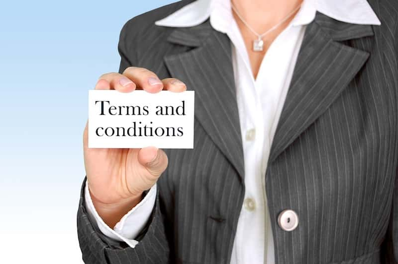 Accident Lawyer Terms and Conditions